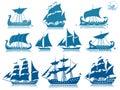 Vintage sailing boats Royalty Free Stock Photo