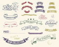 Vintage sale icons set Royalty Free Stock Photos
