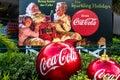 Vintage Santa Claus Coca Cola sign at Seaworld 212 Royalty Free Stock Photo