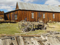 Vintage scene at bodie state historic park california us Stock Photography