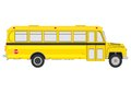 Vintage school bus silhouette of yellow on a white background Royalty Free Stock Photos