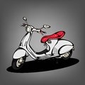 Vintage Scooter Royalty Free Stock Photo