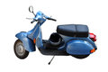 Vintage scooter italian classic vespa isolated Royalty Free Stock Photos