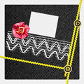 Vintage Scrapbook album page Royalty Free Stock Images