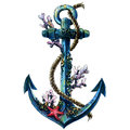 Vintage Sea Anchor With Shell,...