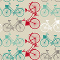 Vintage seamless background with bicycles. Royalty Free Stock Photo