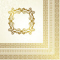 Vintage seamless background frame seamless wallpaper retro design Stock Photos