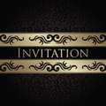 Vintage seamless background with a ribbon can be used as invitation Royalty Free Stock Photos