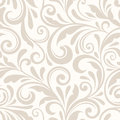 Vintage seamless beige floral pattern. Vector illustration. Royalty Free Stock Photo