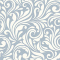 Vintage seamless blue and white floral pattern. Vector illustration. Royalty Free Stock Photo