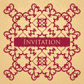 Vintage seamless floral background with a pattern stylish invitation Royalty Free Stock Photography