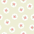 Vintage seamless floral pattern inspired with roses Stock Images