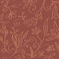 Vintage seamless floral wallpaper Royalty Free Stock Photo