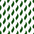 Vintage seamless leaves pattern. Hand drawn green leaves on white. Abstract vector background. Simple style.