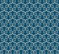 Vintage seamless monochrome geometrical pattern Stock Image