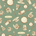 Vintage seamless pattern with china Royalty Free Stock Photography