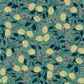 Vintage seamless pattern with chrysanthemum for textile design. Wallpaper, fabric, textile. Blossom floral seamless