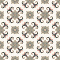 Vintage seamless pattern. Ethnic ornament. Boho style. Retro decorative elements. Repeatable background. Abstract floral plant. Or Royalty Free Stock Photo
