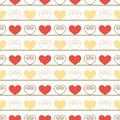 Vintage seamless pattern with hearts light vector illustration Royalty Free Stock Photography