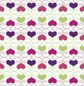 Vintage seamless pattern with hearts on white vector illustration Stock Images
