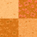 Vintage seamless pattern with poppy flowers Royalty Free Stock Photo