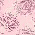 Vintage seamless pattern with roses vector illustration Royalty Free Stock Photography