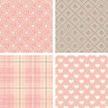 Vintage seamless patterns set of vector illustration Stock Photography