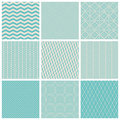 Vintage seamless patterns set of vector illustration Stock Image