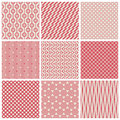 Vintage seamless patterns set of vector illustration Royalty Free Stock Photography