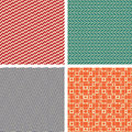 Vintage seamless patterns vector illustration Stock Photos