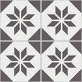Vintage seamless wall tiles of worn out black white polygon.