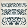 Vintage set border frame ornate scroll calligraphy vector filigree with retro ornament pattern in antique baroque style arabic Royalty Free Stock Photography