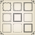 Vintage Set of Vector Square Elements