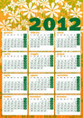 Vintage seventies 2012 calendar Royalty Free Stock Photo