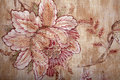 Vintage shabby chic brown wallpaper with floral victorian patter Royalty Free Stock Photo