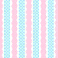 Vintage shabby chic style background with checkered Stock Photos