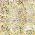 Vintage shabby painted floral roses background seamless pattern Royalty Free Stock Photo