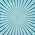 Retro blue radial stripes in circle form Royalty Free Stock Photo