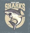 Vintage shark mascot vector of Royalty Free Stock Photos
