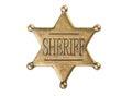Vintage sheriff star badge isolated on white background Stock Images