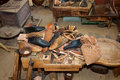 Vintage Shoe Repair Shop Royalty Free Stock Photography