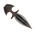 Vintage short blade dagger isolated. Stock Photos