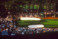 Vintage shot of augusta during masters view course at the tournament image taken from slide Stock Image