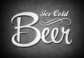 Vintage sign ice cold beer movie Stock Images