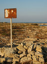 Vintage signal on a desertic area in italy Stock Photography