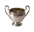 Vintage silver bowl Stock Images