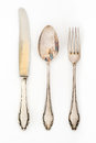 Vintage silverware set Royalty Free Stock Photo