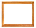 Vintage simple narrow wooden picture frame Royalty Free Stock Photo