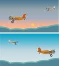 Vintage Single turboprop Airplane Vector