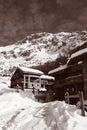 Vintage Ski Chalets Royalty Free Stock Photo